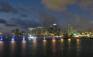 Sonntagmorgen anlegen im Port of Miami