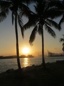 Sonnenuntergang über Miami Downtown