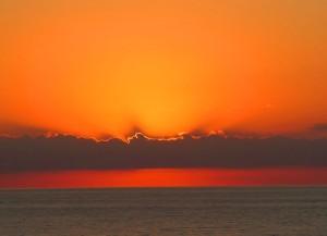 Sonnenuntergang Montagabend